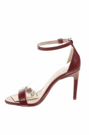 Σανδάλια Zara, Μέγεθος 36, Χρώμα Κόκκινο, Γνήσιο δέρμα, Τιμή 29,60€