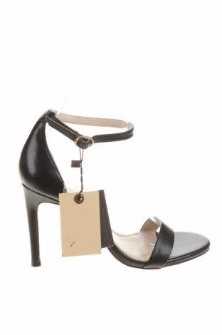 Σανδάλια Zara, Μέγεθος 37, Χρώμα Μαύρο, Γνήσιο δέρμα, Τιμή 35,72€