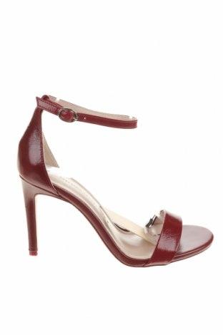 Σανδάλια Zara, Μέγεθος 38, Χρώμα Κόκκινο, Γνήσιο δέρμα, Τιμή 29,60€