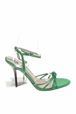 Σανδάλια Zara, Μέγεθος 38, Χρώμα Πράσινο, Κλωστοϋφαντουργικά προϊόντα, Τιμή 22,43€