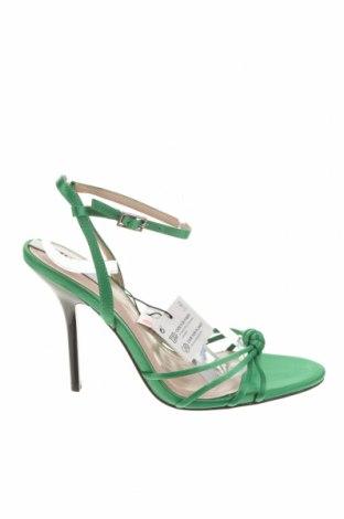 Σανδάλια Zara, Μέγεθος 37, Χρώμα Πράσινο, Κλωστοϋφαντουργικά προϊόντα, Τιμή 26,68€