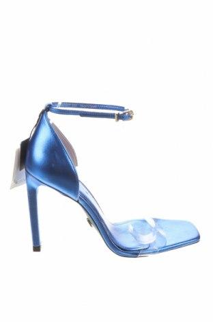 Σανδάλια Zara, Μέγεθος 36, Χρώμα Μπλέ, Γνήσιο δέρμα, πολυουρεθάνης, Τιμή 37,11€