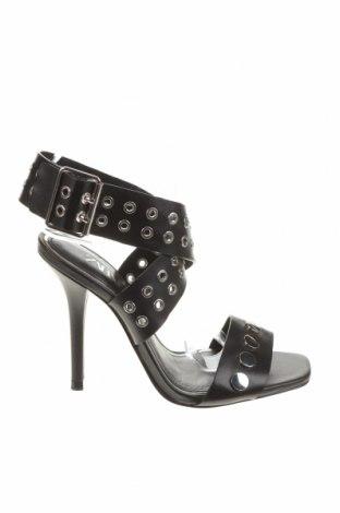 Sandály Zara, Velikost 36, Barva Černá, Eko kůže, Cena  631,00Kč