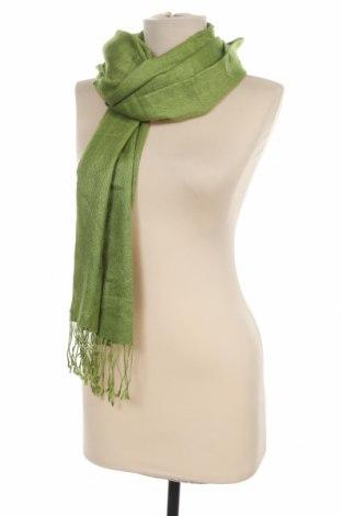 Eșarfă Pashmina, Culoare Verde, 50% cașmir, 50% mătase, Preț 122,85 Lei