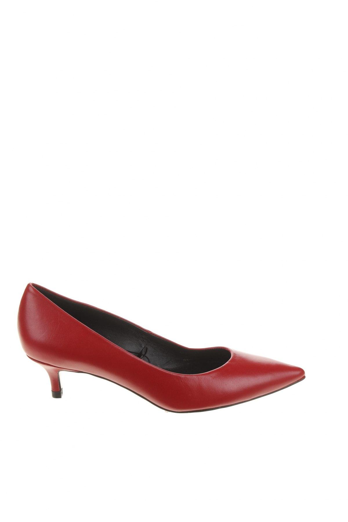 Încălțăminte de damă Zara, Mărime 35, Culoare Roșu, Piele naturală, Preț 244,25 Lei