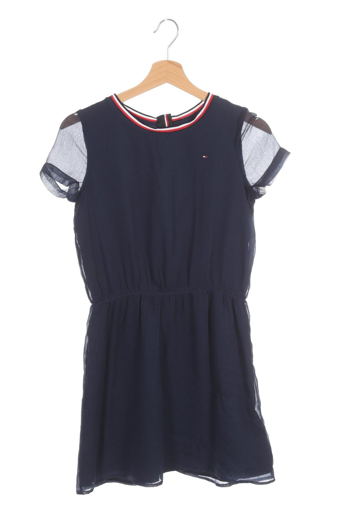 Rochie pentru copii Tommy Hilfiger, Mărime 12-13y/ 158-164 cm, Culoare Albastru, Poliester, Preț 148,15 Lei