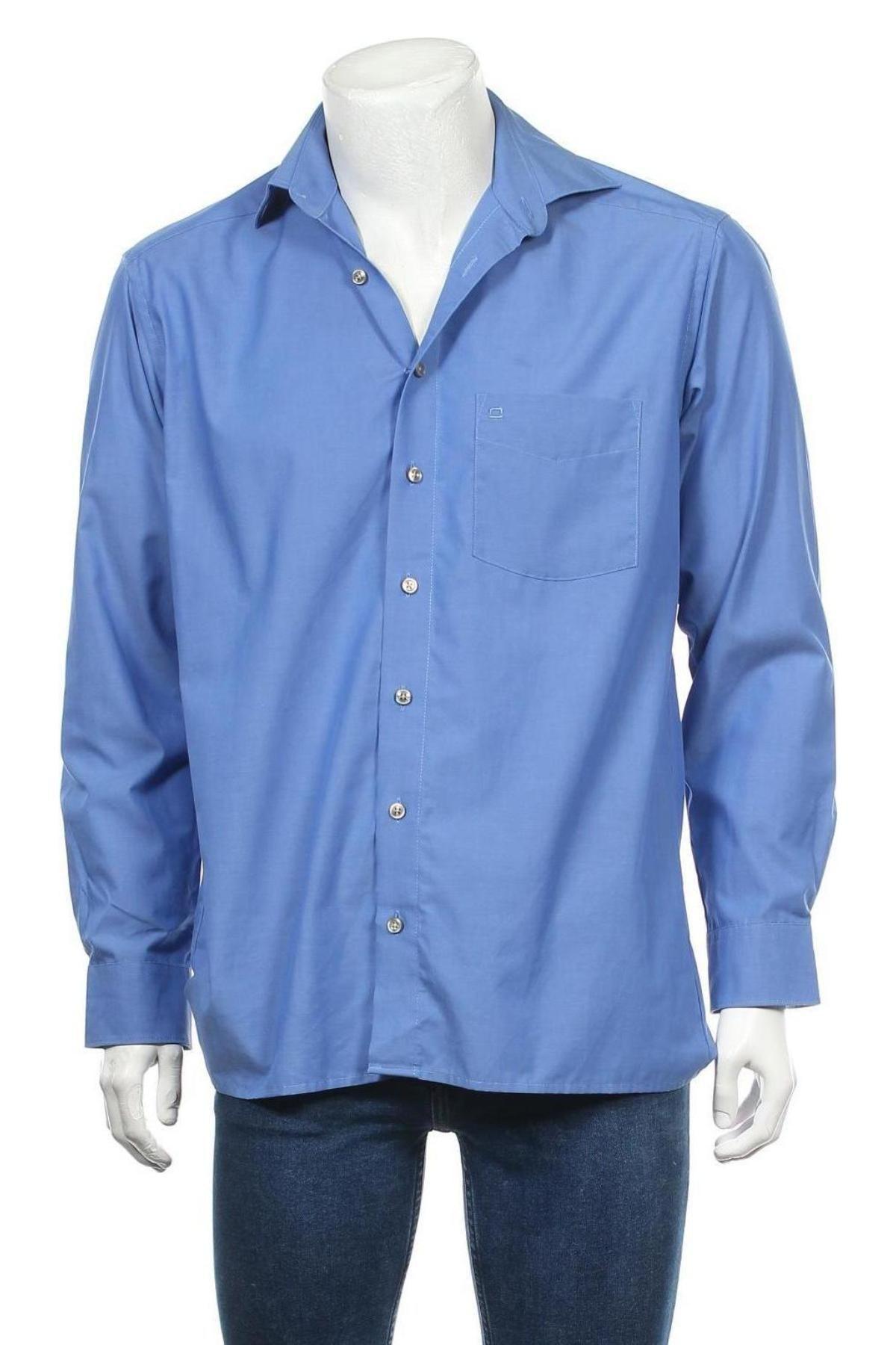 Мъжка риза Olymp, Размер S, Цвят Син, Цена 6,56лв.