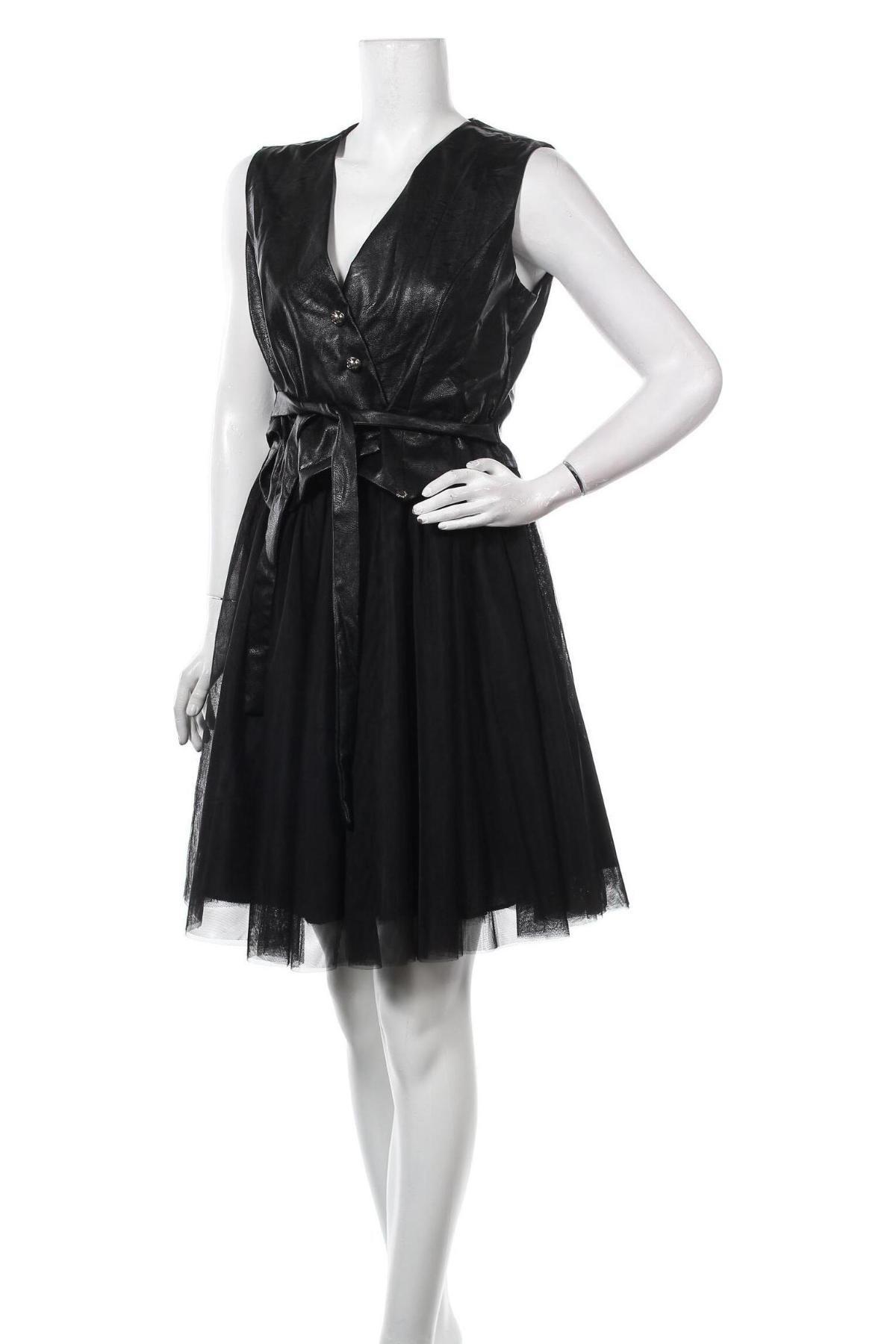 Šaty  Rinascimento, Velikost XL, Barva Černá, Eko kůže, polyester, Cena  2054,00Kč