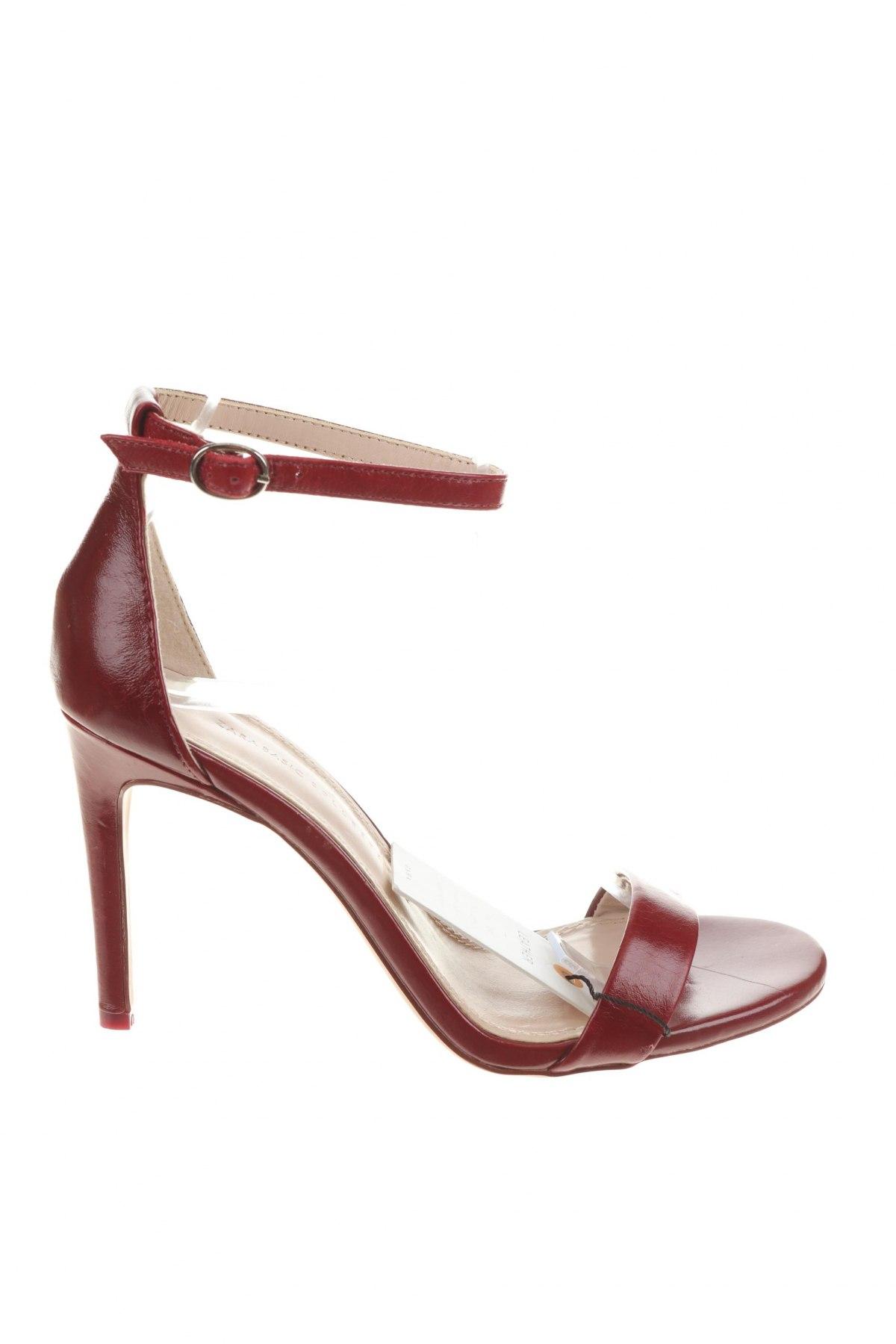 Сандали Zara, Размер 38, Цвят Червен, Естествена кожа, Цена 64,50лв.