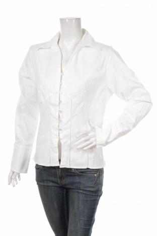 Γυναικείο πουκάμισο Mary Line, Μέγεθος XL, Χρώμα Λευκό, 97% βαμβάκι, 3% ελαστάνη, Τιμή 8,04€