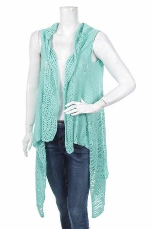Дамска жилетка, Размер M, Цвят Зелен, 100% акрил, Цена 41,65лв.