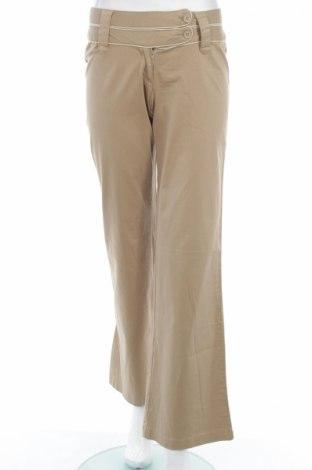 Дамски панталон Top Secret, Размер XS, Цвят Бежов, 97% памук, 3% еластан, Цена 13,34лв.