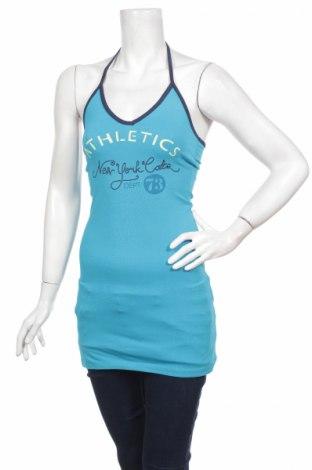 Γυναικείο αμάνικο μπλουζάκι Moodo, Μέγεθος XS, Χρώμα Μπλέ, 95% βαμβάκι, 5% ελαστάνη, Τιμή 2,74€