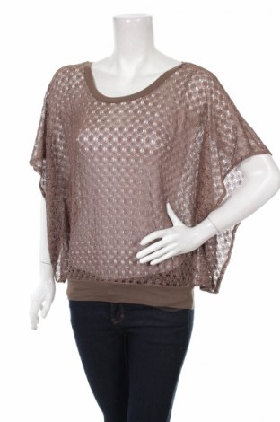 Дамски пуловер Express, Размер S, Цвят Кафяв, 96% полиамид, 4% метални нишки, Цена 3,00лв.