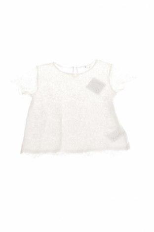 Детска блуза H&M, Размер 8-9y/ 134-140 см, Цвят Бял, 40% вискоза, 32% памук, 28% полиамид, Цена 4,40лв.