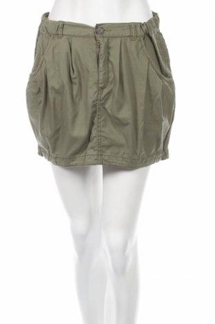 Пола H&M Divided, Размер M, Цвят Зелен, 51% памук, 49% тенсел, Цена 7,36лв.