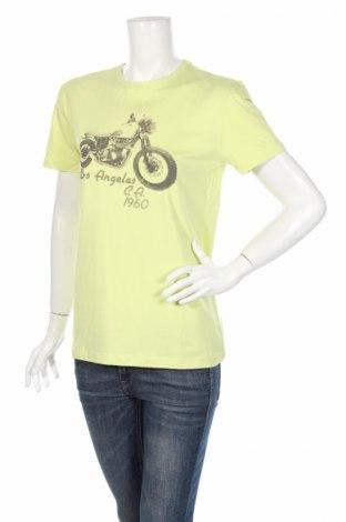 Γυναικείο t-shirt Guess By Marciano, Μέγεθος L, Χρώμα Πράσινο, 95% βαμβάκι, 5% ελαστάνη, Τιμή 21,98€