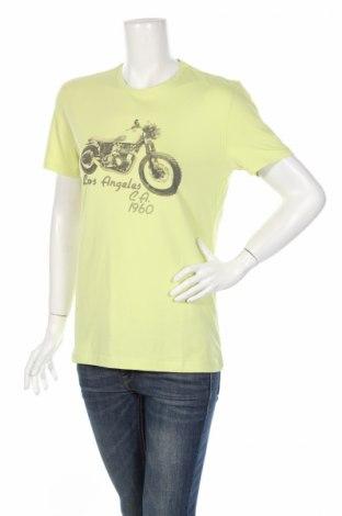 Γυναικείο t-shirt Guess By Marciano, Μέγεθος M, Χρώμα Πράσινο, 95% βαμβάκι, 5% ελαστάνη, Τιμή 21,98€