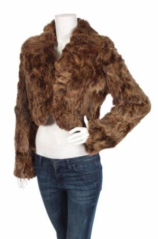 Дамско кожено палто Pink Woman