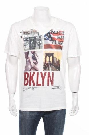 Ανδρικό t-shirt Tom Tailor, Μέγεθος XL, Χρώμα Λευκό, Βαμβάκι, Τιμή 7,04€