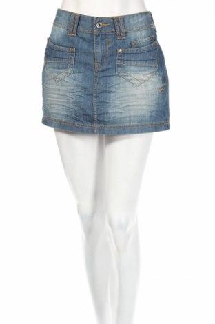 Φούστα Amisu, Μέγεθος L, Χρώμα Μπλέ, Βαμβάκι, Τιμή 3,56€