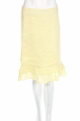 Пола H&M, Размер S, Цвят Жълт, Рамия, Цена 5,90лв.