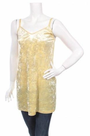 Туника Zara, Размер S, Цвят Жълт, 93% полиестер, 7% еластан, Цена 28,60лв.