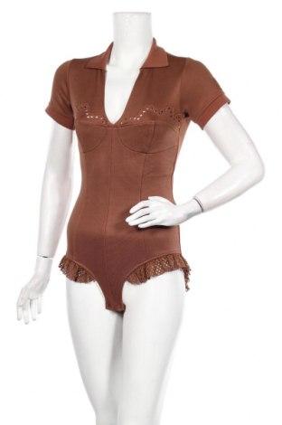 Дамска блуза - боди Fenty Puma by Rihanna, Размер M, Цвят Кафяв, 77% памук, 20% полиестер, 3% еластан, Цена 131,40лв.
