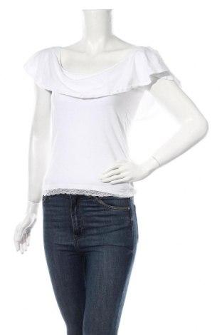 Γυναικεία μπλούζα Cropp, Μέγεθος L, Χρώμα Λευκό, 96% βαμβάκι, 4% ελαστάνη, Τιμή 6,20€