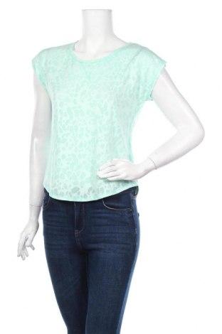 Дамска тениска H&M, Размер S, Цвят Син, 62% полиестер, 38% памук, Цена 6,00лв.