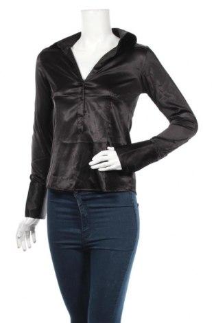 Дамска блуза Zara, Размер M, Цвят Черен, 93% полиестер, 7% еластан, Цена 3,00лв.