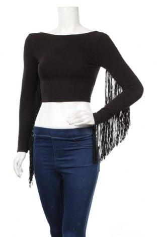 Дамска блуза Zara, Размер S, Цвят Черен, 95% памук, 5% еластан, Цена 18,95лв.