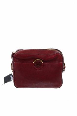 Damska torebka Massimo Dutti, Kolor Czerwony, Skóra naturalna, Cena 243,25zł