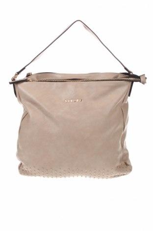 Γυναικεία τσάντα Sisley, Χρώμα  Μπέζ, Δερματίνη, Τιμή 13,72€