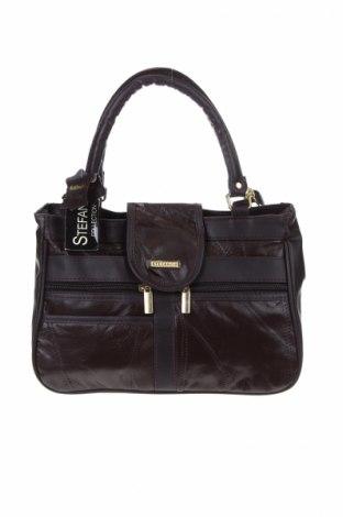 Γυναικεία τσάντα Stefano, Χρώμα Καφέ, Γνήσιο δέρμα, Τιμή 48,01€