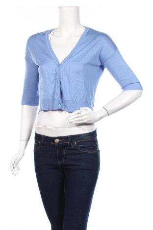 Дамска жилетка Zara Knitwear, Размер S, Цвят Син, Цена 3,00лв.