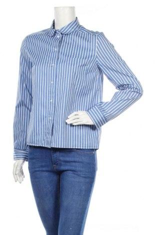 Дамска риза COS, Размер M, Цвят Син, Памук, Цена 24,80лв.