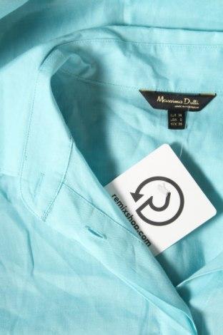 Дамска риза Massimo Dutti, Размер M, Цвят Син, Рамия, Цена 35,96лв.
