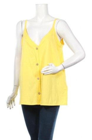 Дамска риза Yessica, Размер M, Цвят Жълт, 52% памук, 48% модал, Цена 19,72лв.