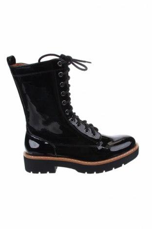 Γυναικείες μπότες Mango, Μέγεθος 38, Χρώμα Μαύρο, Δερματίνη, Τιμή 45,36€