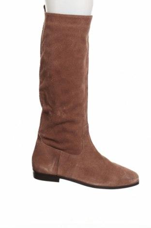 Γυναικείες μπότες Mango, Μέγεθος 41, Χρώμα Καφέ, Φυσικό σουέτ, Τιμή 73,20€