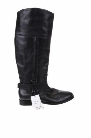 Γυναικείες μπότες Mango, Μέγεθος 39, Χρώμα Μαύρο, Γνήσιο δέρμα, Τιμή 97,42€