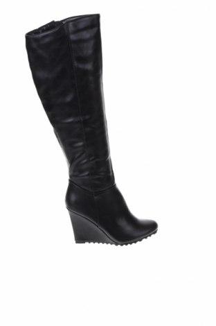 Γυναικείες μπότες Mohito, Μέγεθος 37, Χρώμα Μαύρο, Δερματίνη, Τιμή 51,03€