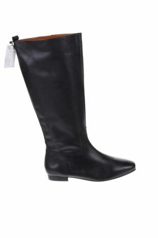 Γυναικείες μπότες Violeta by Mango, Μέγεθος 41, Χρώμα Μαύρο, Γνήσιο δέρμα, Τιμή 97,42€