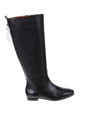 Γυναικείες μπότες Violeta by Mango, Μέγεθος 36, Χρώμα Μαύρο, Γνήσιο δέρμα, Τιμή 97,42€