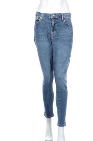Дамски дънки Topshop, Размер L, Цвят Син, 92% памук, 6% полиестер, 2% еластан, Цена 57,12лв.