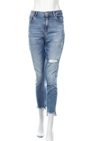 Дамски дънки Zara, Размер L, Цвят Син, Цена 27,93лв.