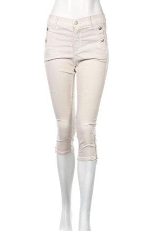 Дамски панталон 2 Biz, Размер S, Цвят Бежов, 63% памук, 34% полиестер, 3% еластан, Цена 3,00лв.