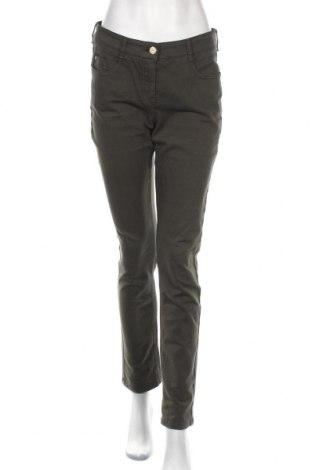 Дамски панталон Atelier GARDEUR, Размер M, Цвят Зелен, 84% памук, 10% полиестер, 6% еластан, Цена 16,54лв.