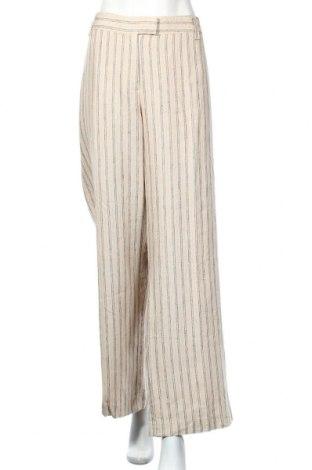 Γυναικείο παντελόνι Bon'a Parte, Μέγεθος 3XL, Χρώμα  Μπέζ, Λινό, Τιμή 13,64€